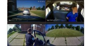 PRO-VISION Hybrid HD In-Car Video System for Law Enforcement 4 screen panel